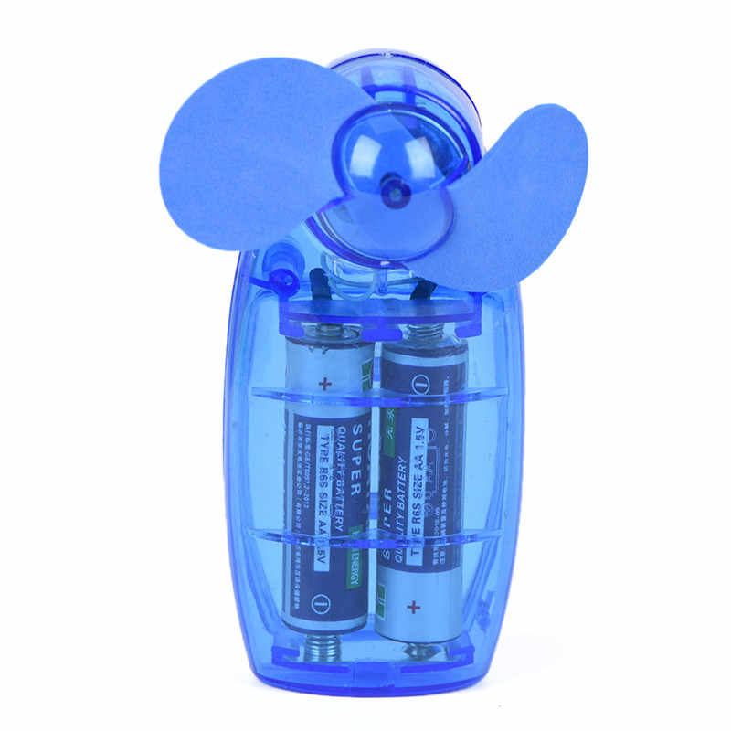 1 Uds Mini ventilador de bolsillo portátil de moda Botón de batería tipo ventilador de aire fresco de alta eficiencia de eliminación de calor