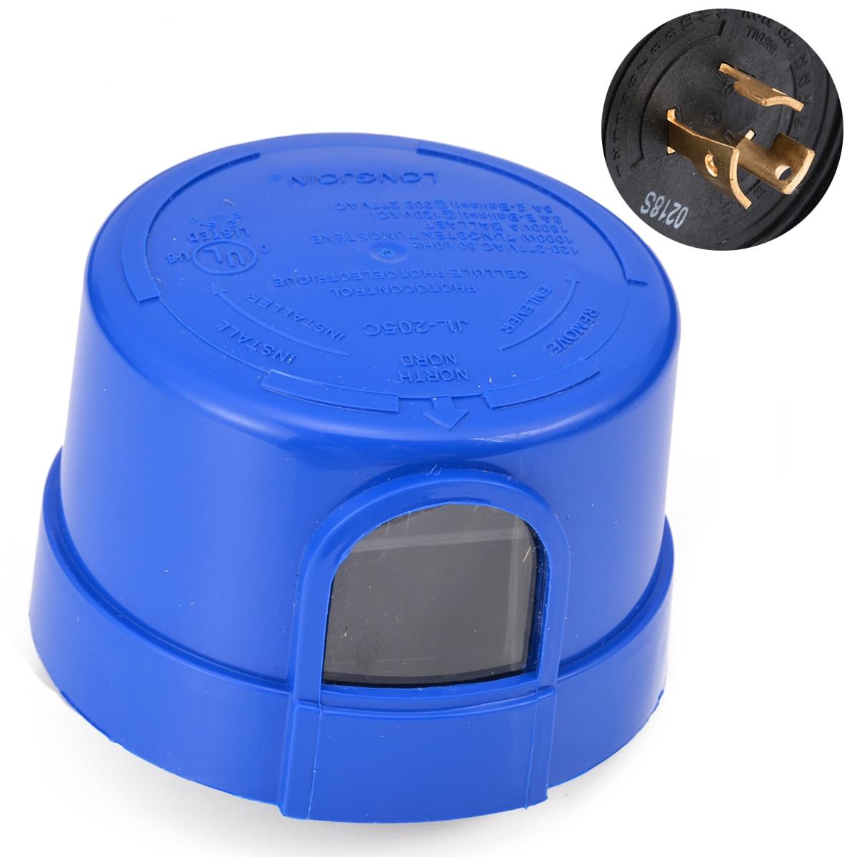 1pc Automatic LED Dusk To Dawn Sensor Outdoor Swivel Cell Light Control Photocell Sensors 120-277 For Street Lighting Mayitr
