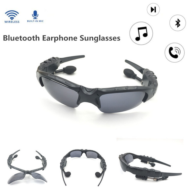 Smart Glasses Bluetooth Earphone Bluetooth Sunglasses Outdoor Sun Glasses  Wireless Headphones Microphone for xiaomi for Sony f2525717f22