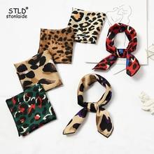 Summer Women Scarf Fashion Neckerchief Air Hostess Small Square Scarves Satin Silk Hair Band Professional Neck Tie