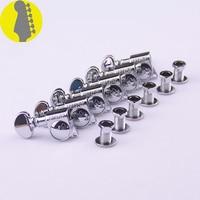 1 Set 6 In Line Genuine Grover Left Hand Guitar Machine Heads Tuners 1 18 Chrome