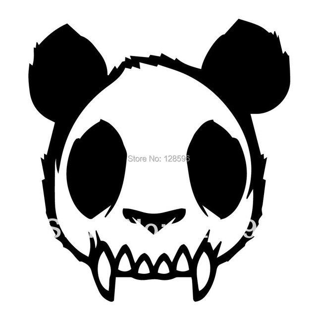 Skull zombie panda evil mad dead goth vinyl decal car sticker black