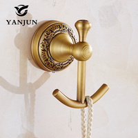 Yanjun Hat Hook Bathrobe Clothes Hanger Bathroom Coat Rack Bathroom Accessories High Quality European Style YJ