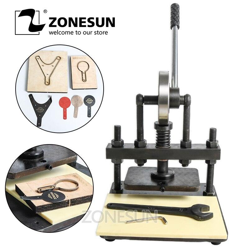 ZONESUN 20x14cm Hand leather cutting machine photo paper PVC EVA sheet mold cutter manual leather mold