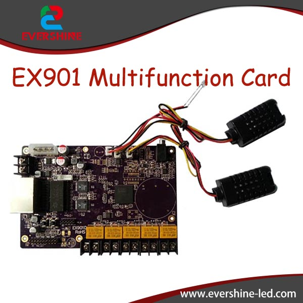 все цены на LINSN card EX901 multifunction card Temperature+ Humidity+Brightness Sesor  LED display control card онлайн