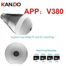2.0MP V380 Wifi IP camera 360deg Light shape cctv P2P wifi camera lamp Surveillance Micro Camera 1080P baby monitor