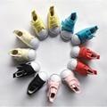 5 пар/лот 5 см Холст Обувь Для BJD Куклы, мини Текстильной Куклы Сапоги 1/6 Джинсовые Кроссовки Обувь для Тильда Куклы, Бесплатная Доставка