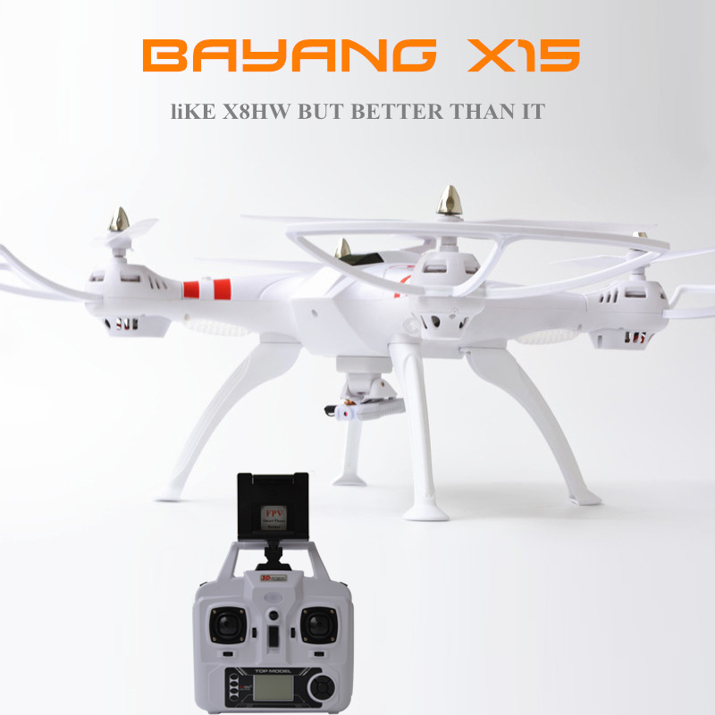 Bayang X15 Big Size Barometer Rc Quadcopter Drone Helicopter 2MP Wifi FPV Camera Air-pressure Mode PK Syma X8HW syma x8w fpv rc quadcopter drone with wifi camera 2 4g 6axis dron syma x8c 2mp camera rtf rc helicopter with camera vs x8hw