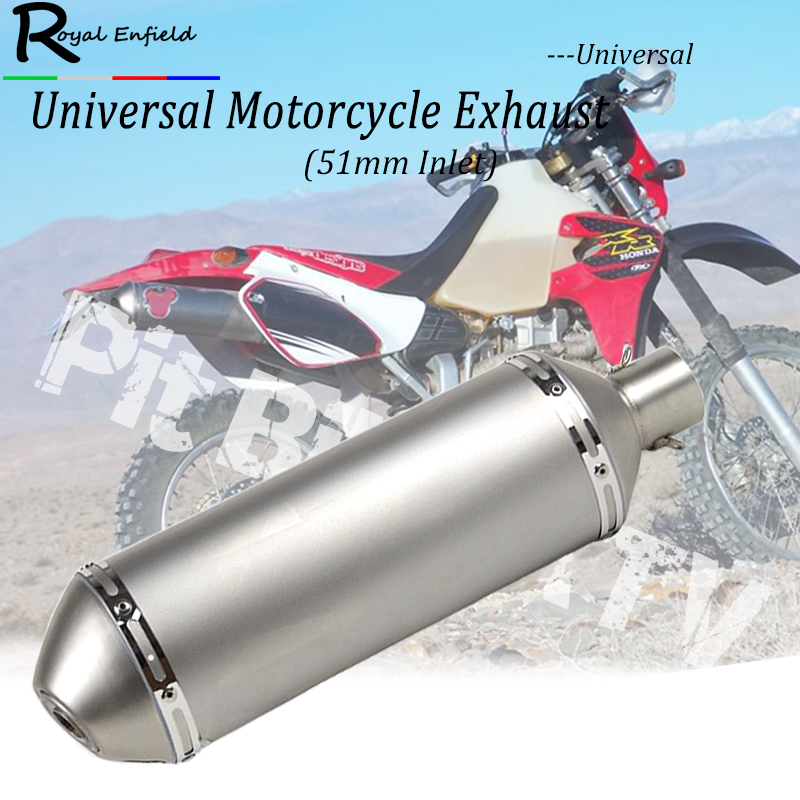 Universal motorcycle exhaust muffler pit bike ATV motorbike exhaust muffler DB killer for Honda xr650r xr600r tmax nmax for KTM free shipping exhaust motorcycle muffler for akrapovic escape moto pitike db killer nmax cb650f ybr 125 sv650 cbr250r ktm
