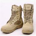 Ejército militar Táctica transpirable Botas de Combate Del Desierto Al Aire Libre Otoño antideslizante de Cuero bootsMen de combate Botas Tamaño 39-45 yardas