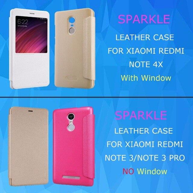 Xiaomi redmi note 3 PRO caso NILLKIN serie Sparkle de plástico de cuero de la PU caso redmi note 4x5,5 pulgadas para Xiaomi redmi note 4 X