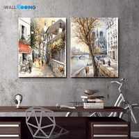 Drucken straße malerei pop-art leinwand malerei Hohe qualität günstige Kunst Fotos für Hotel Restaurant Cafe küche wand dekor bild