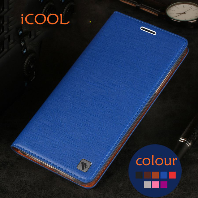 Original iCOOL Brand Phone Case Flip PU Leather Cover + TPU Soft Case For ZTE Nubia Z7max Z7 Max NX505J Mobile phone shell