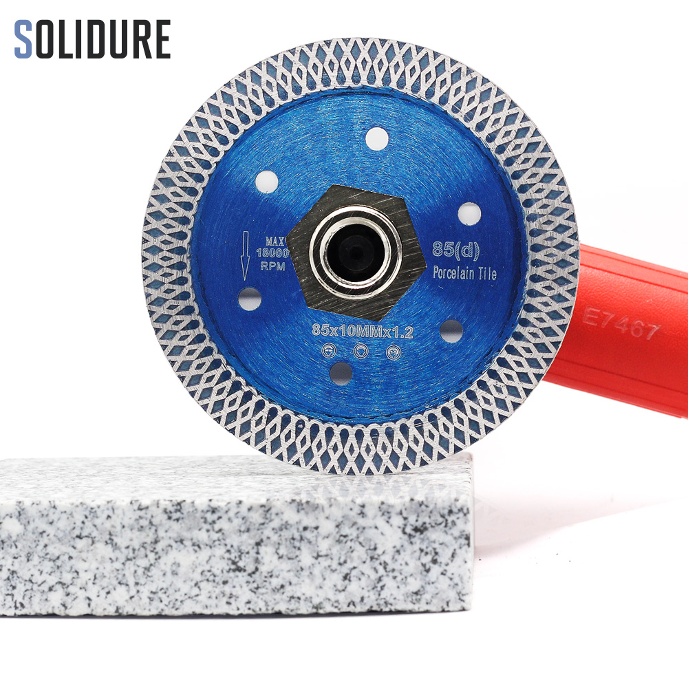 85mm Hot Sintered 1.2mm Thin 3 Inch Porcelain Tile Cutting Blade For Cutting Porcelain Tiles Diamond Saw Blade