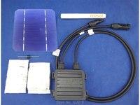 40 pcs MONO 5x5 DIY kit for solar panel, solar cells, flux pen, diode, bus tabbing wire, junction box