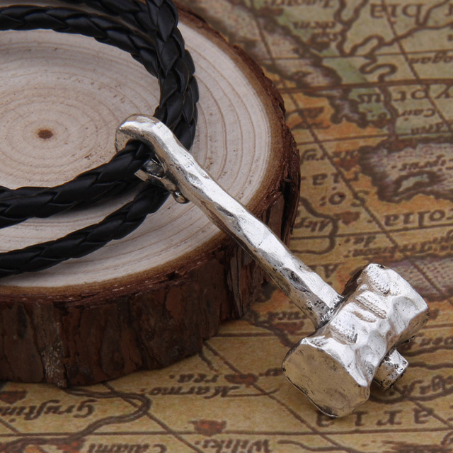 Men Necklace Scandinavian Viking jewelry Odin 's Symbol of Norse Viking thor hammer Warrior Slavic Norway Valknut 3