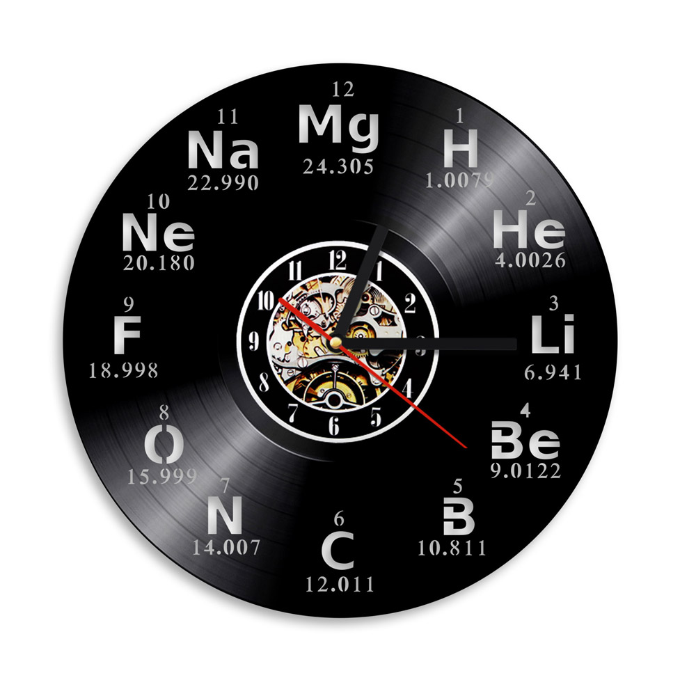 Table english pub table antique periodic table product on alibaba com - 1piece Chemical Element Periodic Table Vinyl Wall Clock Study Chemistry School Collehe Vintage Classroom Decor