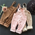 overalls kids girls children Corduroy Rompers 2016 autumn fall clothing