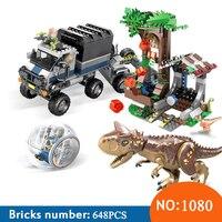 SY1080 Compatible Legoings 75929 jurassic world dinosaur Bricks Carnotaurus Gyrosphere Escape Building blocks toys for children