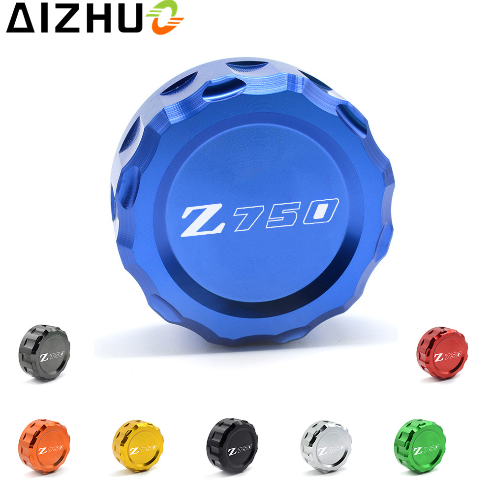 For Kawasaki Z750 motorcycle Accessorie Cylinder Fluid Reservoir Aluminum alloy Cover 8 color with z750 logo for z-750 2010-2014