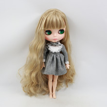 Factory Neo Blythe Doll Golden Hair Jointed Body 30cm