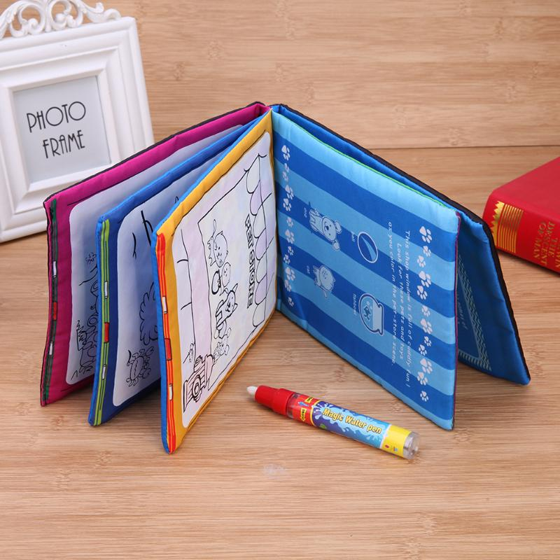 paintings by numbers on canvas small cloth toy Water Magic Children Boys Girls Kids Drawing Toys Coloring Book Water Painting