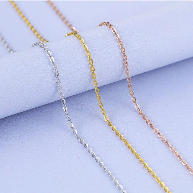 Martick 925 الفضة والمجوهرات 0.8 ملليمتر o الشكل سلسلة البلوز قلادة 50 سنتيمتر/55 سنتيمتر/60 سنتيمتر أوروبا تماما نمط بيجو GSC28