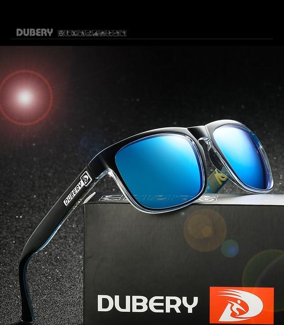 292dcae1481fc DUBERY Óculos Polarizados Masculino Do Vintage dos homens Coloridos Óculos  De Sol Para Homens Marca de