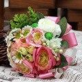 Di nozze ramo Fuentes de La Boda Hecho A Mano Accesorio Flor Buque De Noiva Casamento Elegante Bouquet Barato