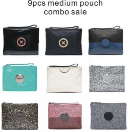 Stock vente propre 9 couleur taille moyenne pochette combo vente moyen porte-monnaie 20 cm x 15 cm