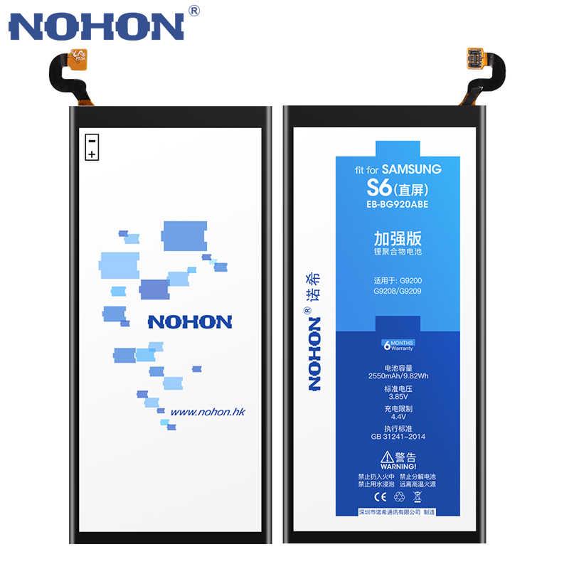 Nohon Batterij Voor Samsung Galaxy S5 S6 S7 S8 S3 S4 Nfc S7 S6 Rand Plus G950F G930F G920F G900F g925F G935F I9300 I9500 Bateria