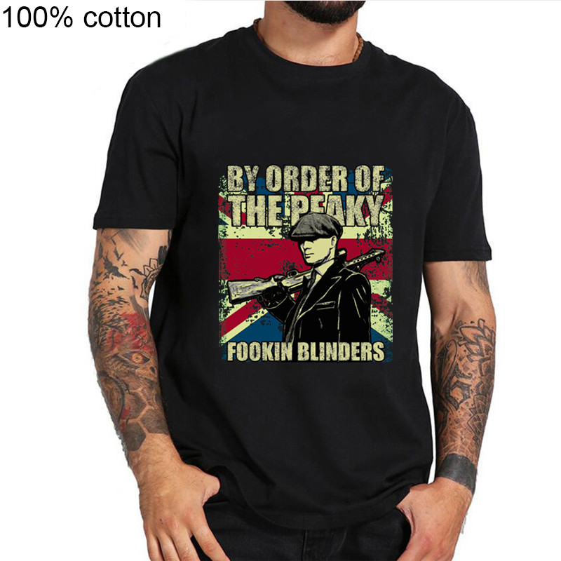 By Order Of The Peaky Fookin Blinders - Peaky Blinders T Shirt Hip-Hop Simple Splicing Tee Tops T-Shirts Sale New Fashion Summer