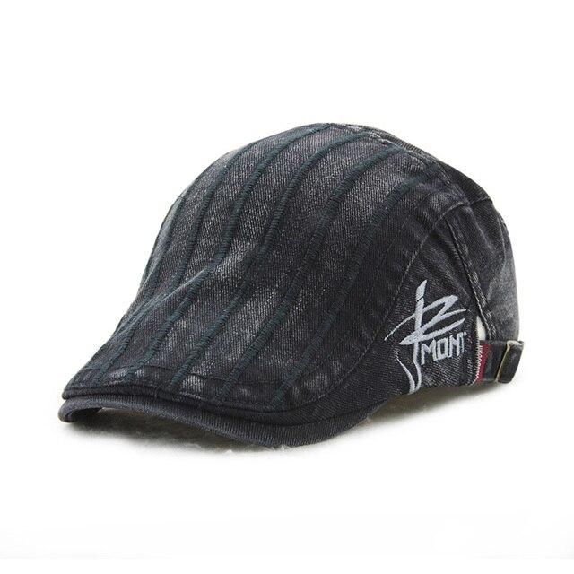 Masculino feminino listrado francês boinas boina chapéu ocasional chapéu  bico de pato mulheres homens plain jornaleiro 4e0eae7ab37