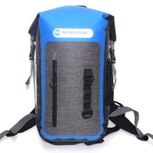 25L Outdoor Packable TPU Waterproof Impermeable Dry Backpack Bag For Hiking Swimming Beach Ocean Pack Rucksack