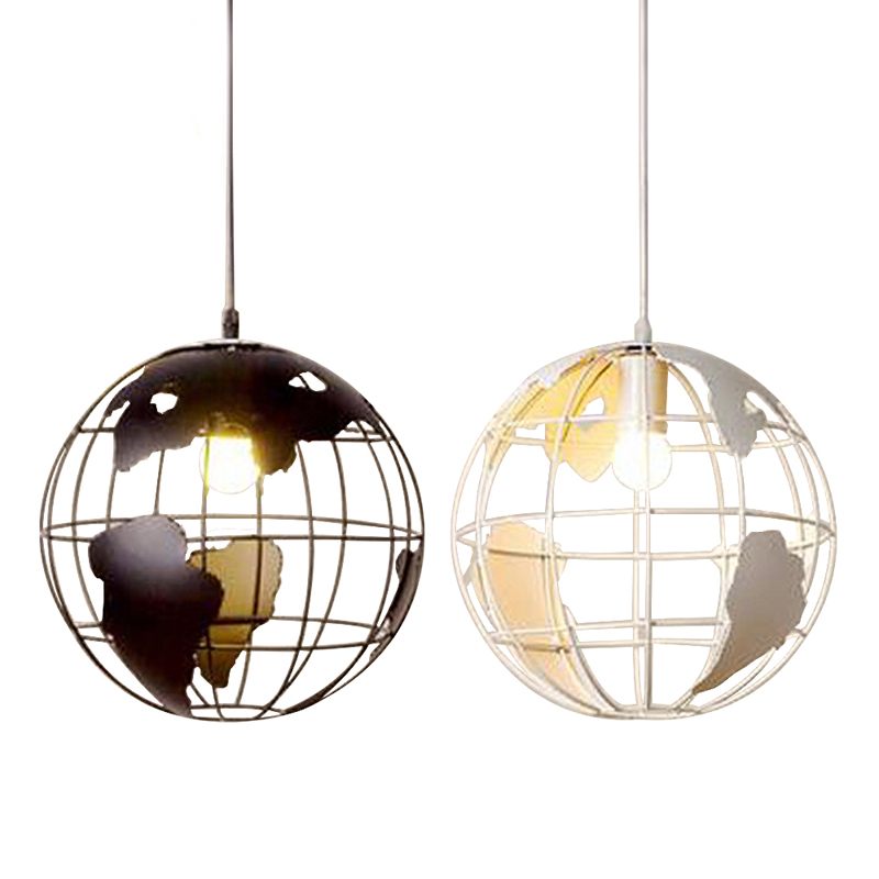 Modern Global Iron Earth Shape Pendant Lights for Home Lighting Loft Kitchen Pendant Lighting Fixtures with Metal Lampshade global elementary coursebook with eworkbook pack