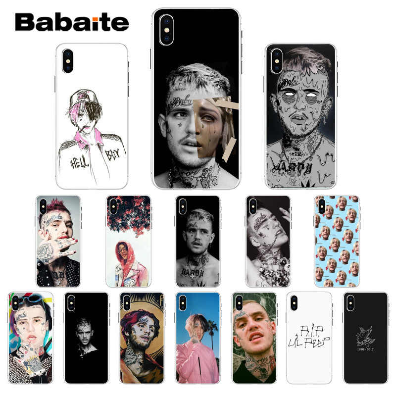 Babaite Lil Peep Lil Bo Peep Black Soft Shell Phone Cover For