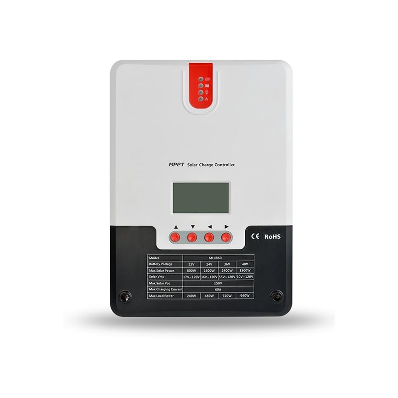 60A 12 V 24 V 36 V 48 V panneau solaire MPPT contrôleur de Charge solaire affichage lcd ML4860 SRNE chargeur de batterie RV ML4860