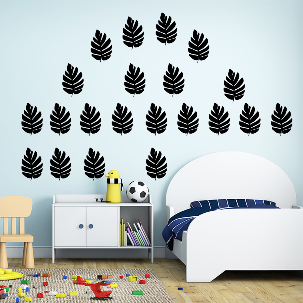 Removable Plant Leaves Vinyl Wall Stickers Wall Decor For Baby's Rooms Kids Room Decoration Wallsticker Wall Decals