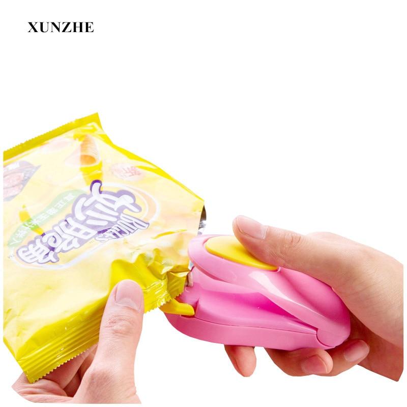 XUNZHE 1Pcs Portable mini sealing machine Food plastic