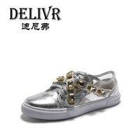 Delivr/Женская обувь на плоской подошве, Вулканизированная обувь, Весенняя повседневная обувь, 2019 роскошные женские кроссовки, повседневная о