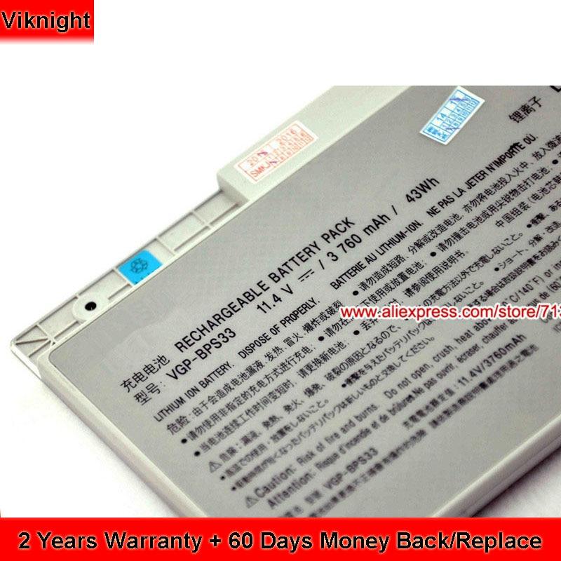 Genuine 11.4 V 43Wh Batteria per Sony Vaio Vgn-SVT151A11L VGP-BPS33 Batteria Ultra Libro Touch Screen SVT15117CXSGenuine 11.4 V 43Wh Batteria per Sony Vaio Vgn-SVT151A11L VGP-BPS33 Batteria Ultra Libro Touch Screen SVT15117CXS