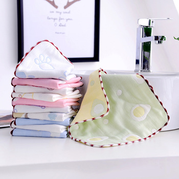 Muslin baby towel Newborns 6 Layers Gauze Cotton Bath towel Saliva Feeding Slobber Towels Kids Handkerchiefs F10 image