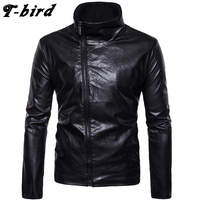 T Bird 2017 Hoodie Men Cardigan Genuine Leather Hip Hop Sweatshirt Men S Hoodies Winter Fashion