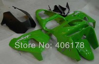Hot venda, Zx 9R 98 99 plástico ABS carenagem body Kit para Kawasaki Ninja ZX9R 1998 1999 ZX-9R verde motocicleta carenagem Kit