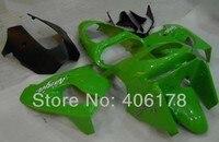 Ventas calientes, ZX 9R 98 99 Kit de carrocería de carenado de plástico ABS para Kawasaki Ninja ZX9R 1998 1999 ZX-9R verde Racing motocicleta kit