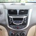 2 Colors Carbon Fiber Car Sticker Dashboard Control Panel Frame Cover Decoration For Hyundai Solaris Interior Car Accessories