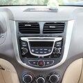 2 Cores De Fibra De Carbono Etiqueta Do Carro Tampa Moldura Do Painel de Controle do Painel Decoração Para Hyundai Solaris Interior Acessórios Do Carro