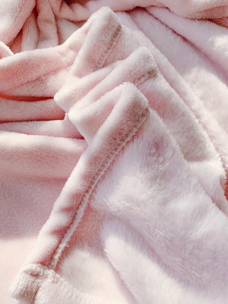Cute Pink Comfy Blanket Sweatshirt Winter Warm Adults and Children Rabbit Ear Hooded Fleece Blanket Sleepwear Huge Bed Blankets 147