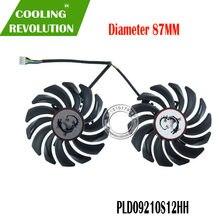 Вентилятор охлаждения для видеокарты GeForce MSI GTX 1050 1050Ti GAMING X, 2 шт./лот, 4 контакта, PLD09210S12HH GTX1050 Ti
