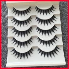 Cross False Eyelashes Naturally High quality Fiber Handmade Cosmetics Long Fake Eye Lashes